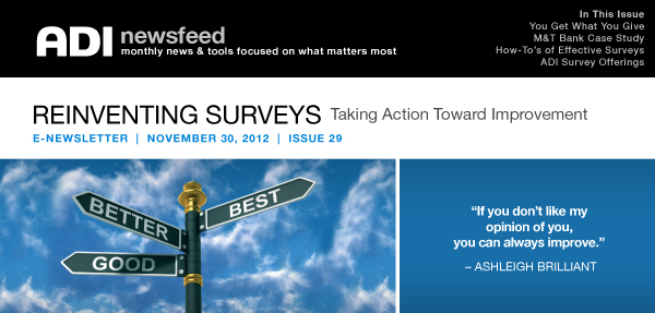 NewsFeed Issue 29 Reinventing Surveys