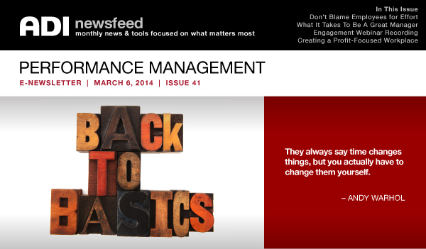 NewsFeed Issue 41 Performance Management Back to the Basics